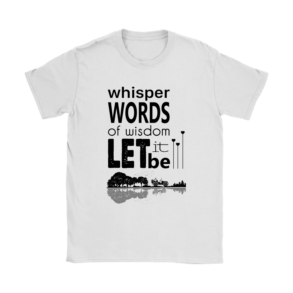 Whisper Words Of Wisdom Let It Be Jeep Guitar Scenery Shirts 2