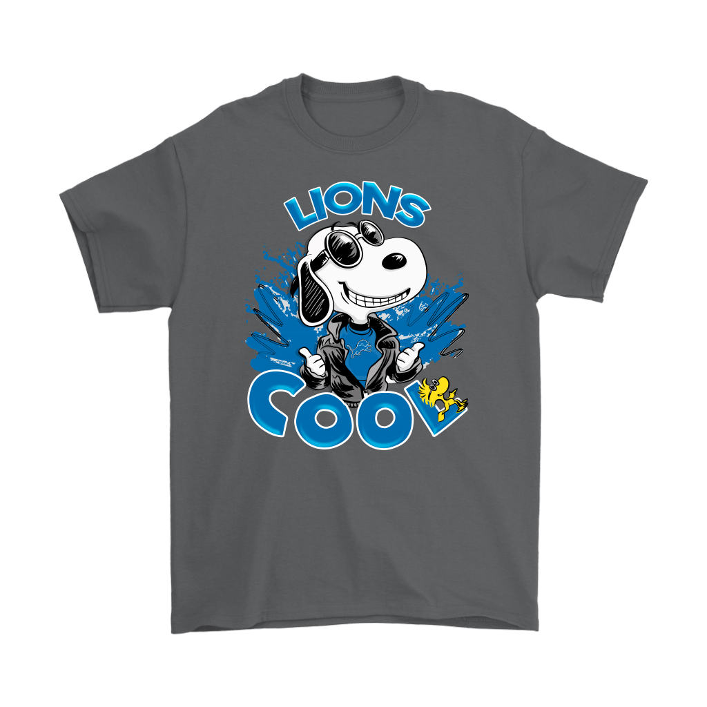 Detroit Lions Snoopy Joe Cool We're Awesome Shirts 2