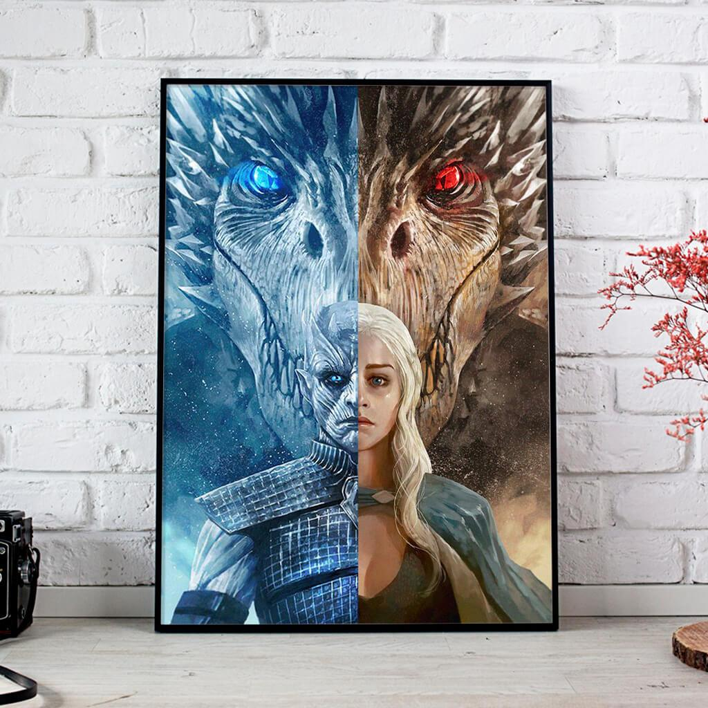 Night King Vs Daenerys Targaryen Game Of Thrones Posters 1