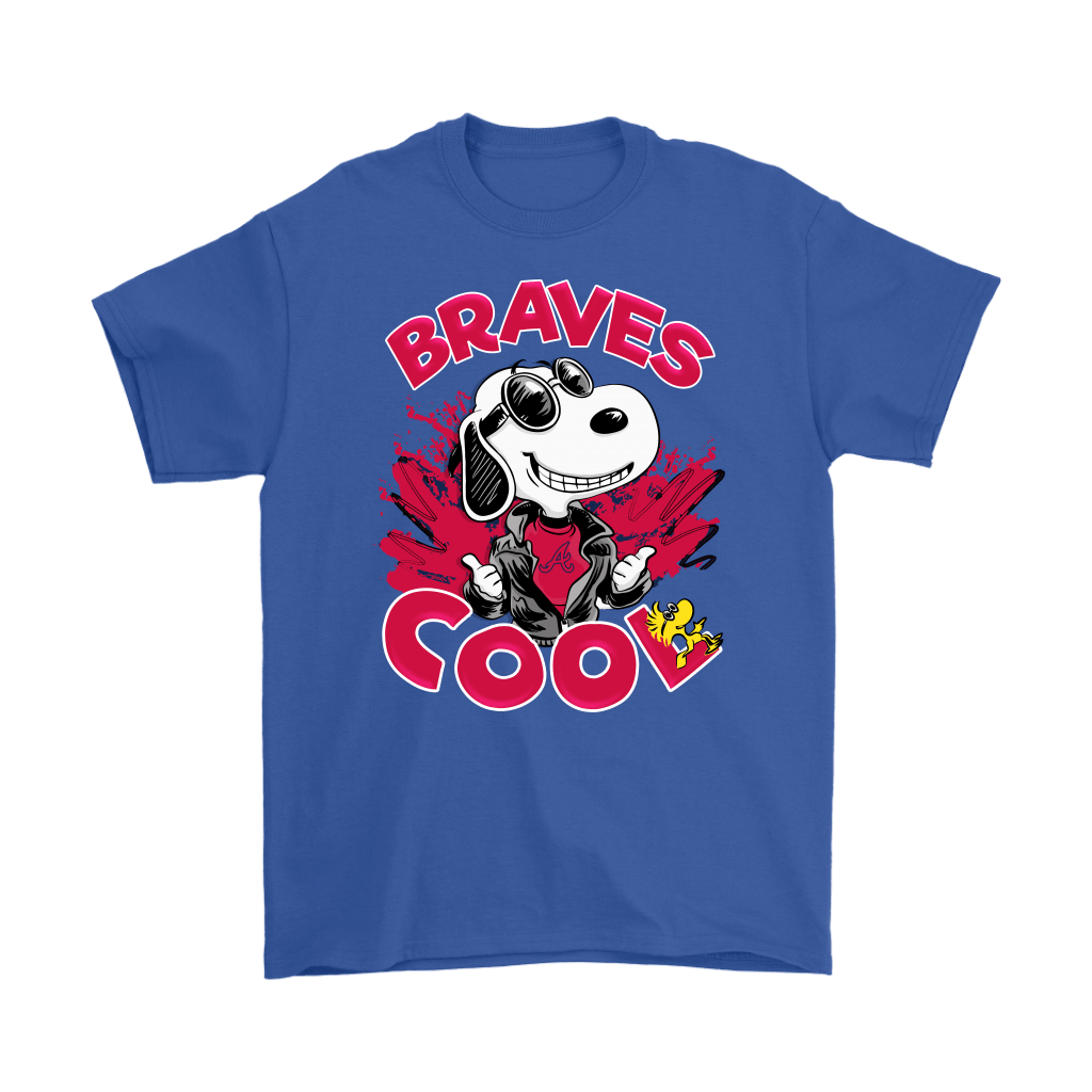 Atlanta Braves Snoopy Joe Cool We're Awesome Shirts 6