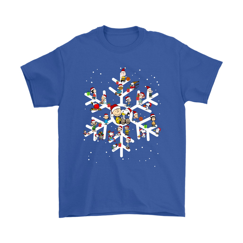 The Peanuts A Joyful Christmas With Snoopy Snowflake Shirts 5