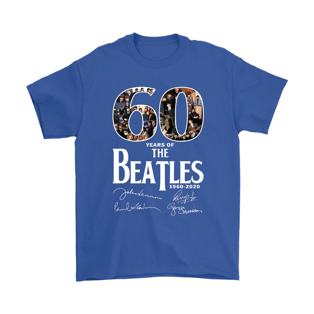 60 Years Of The Beatles 1960-2020 Signatures Shirts 5