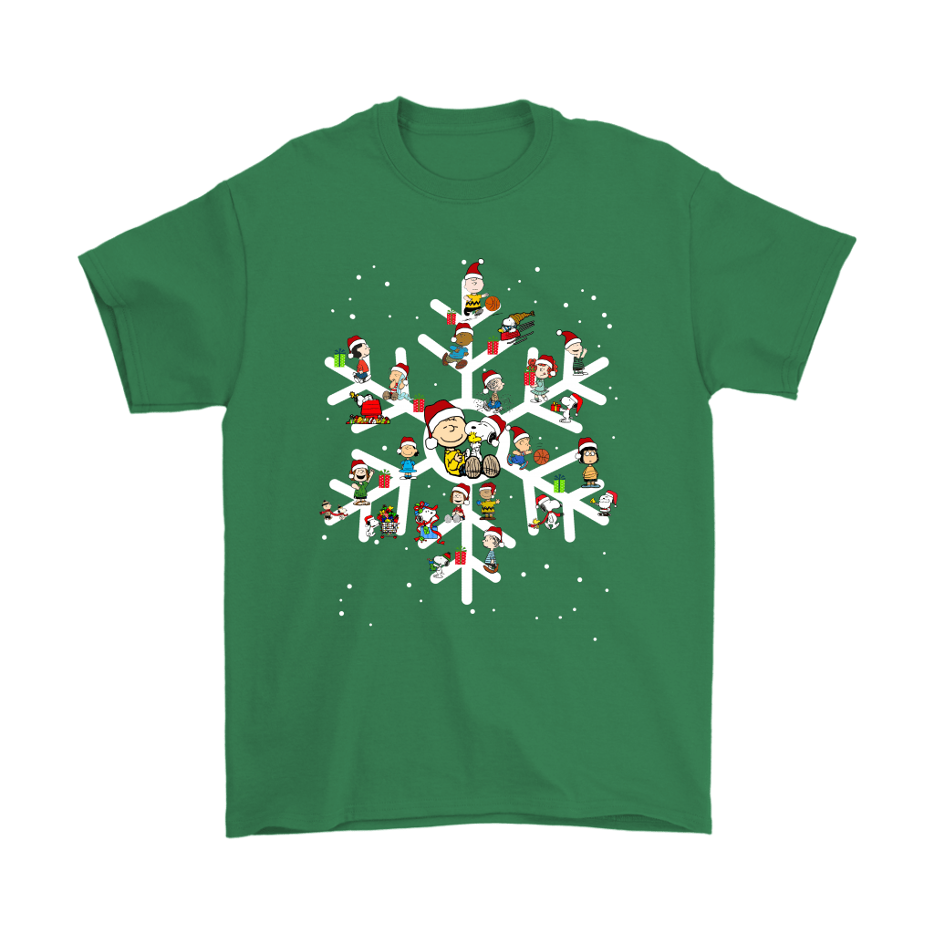 The Peanuts A Joyful Christmas With Snoopy Snowflake Shirts 6