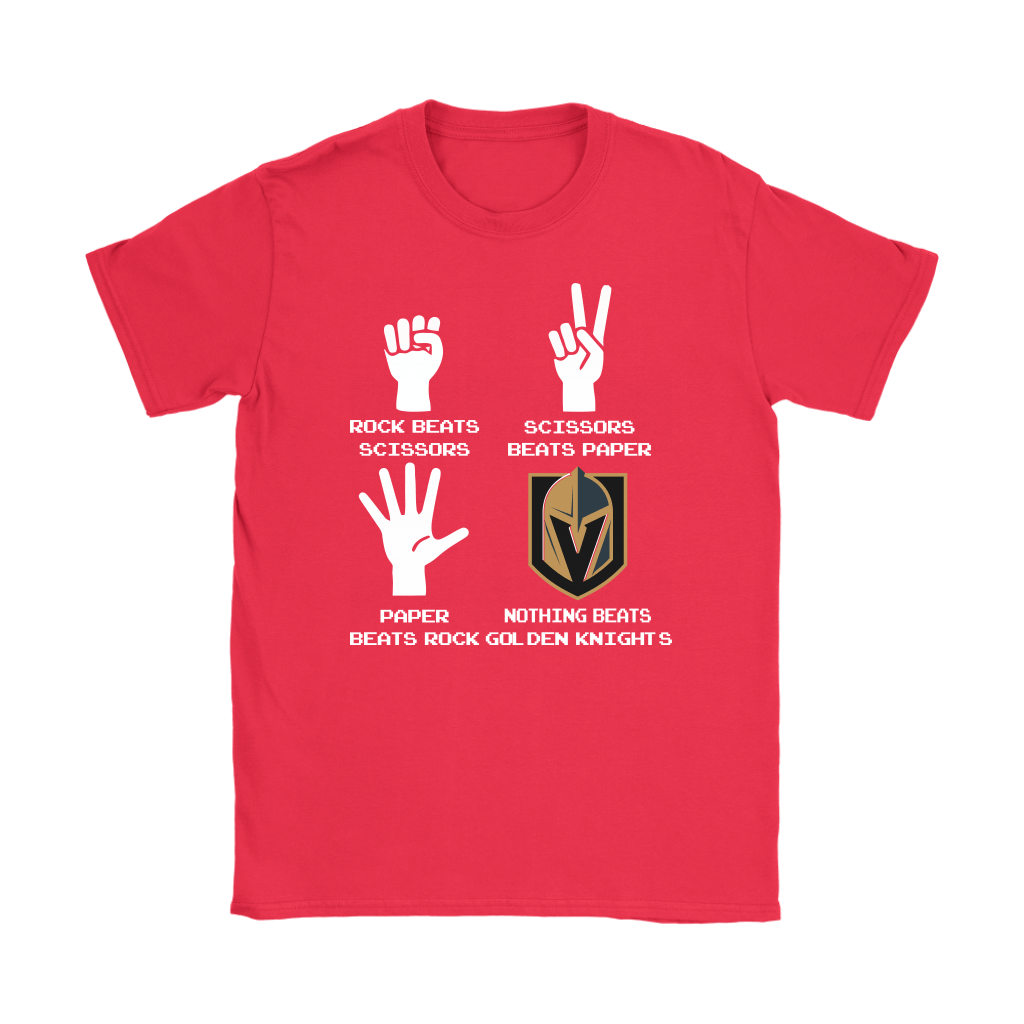 Rock Paper Scissors Nothing Beats The Vegas Golden Knights Shirts 12