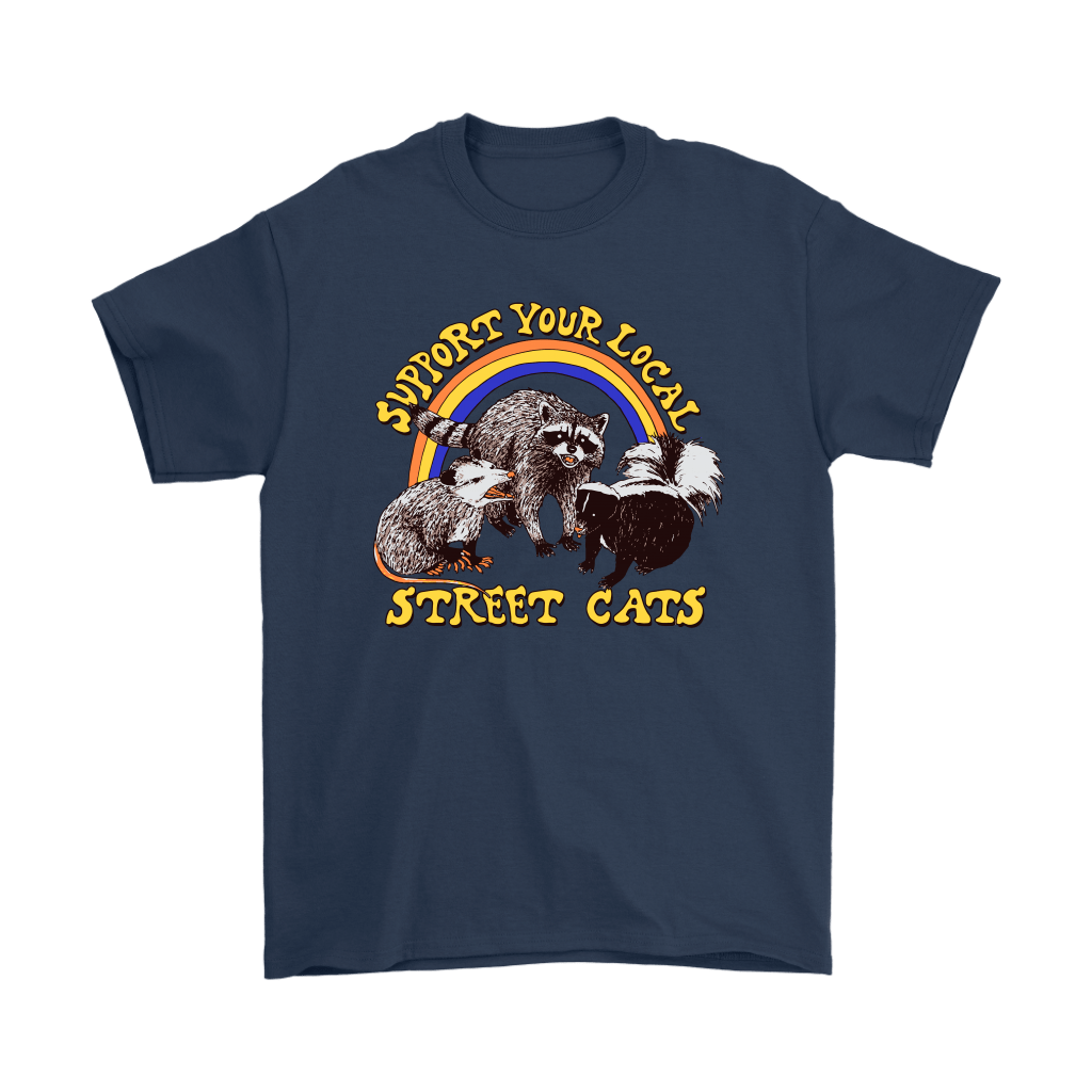 Support Your Local Street Cats Trash Panda Skunk Wild Animal Shirts 3