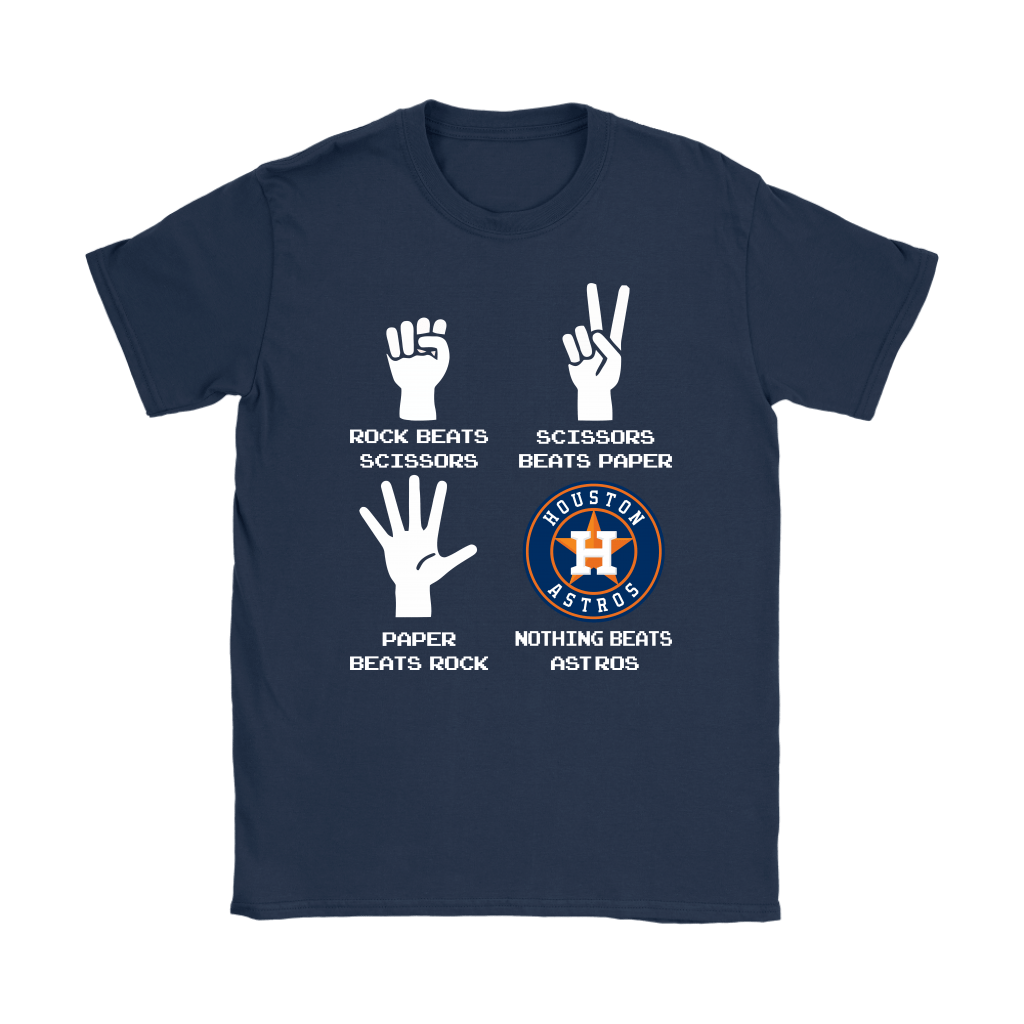 Rock Paper Scissors Nothing Beats The Houston Astros Shirts 10