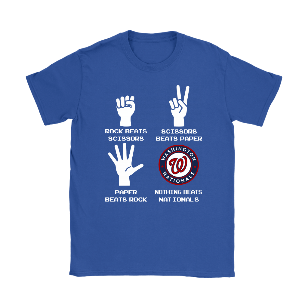 Rock Paper Scissors Nothing Beats The Washington Nationals Shirts 13