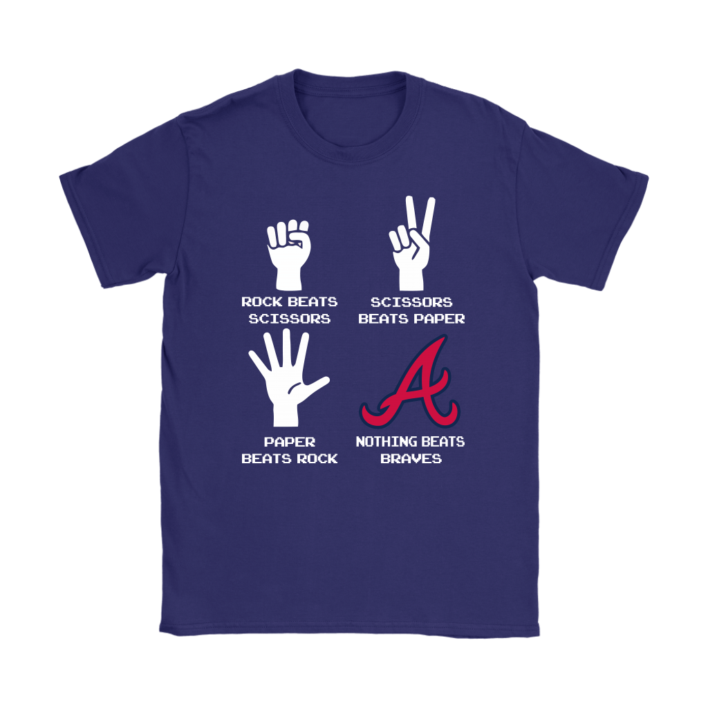 Rock Paper Scissors Nothing Beats The Atlanta Braves Shirts 11