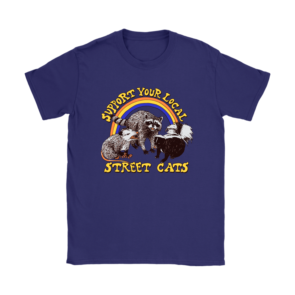 Support Your Local Street Cats Trash Panda Skunk Wild Animal Shirts 11