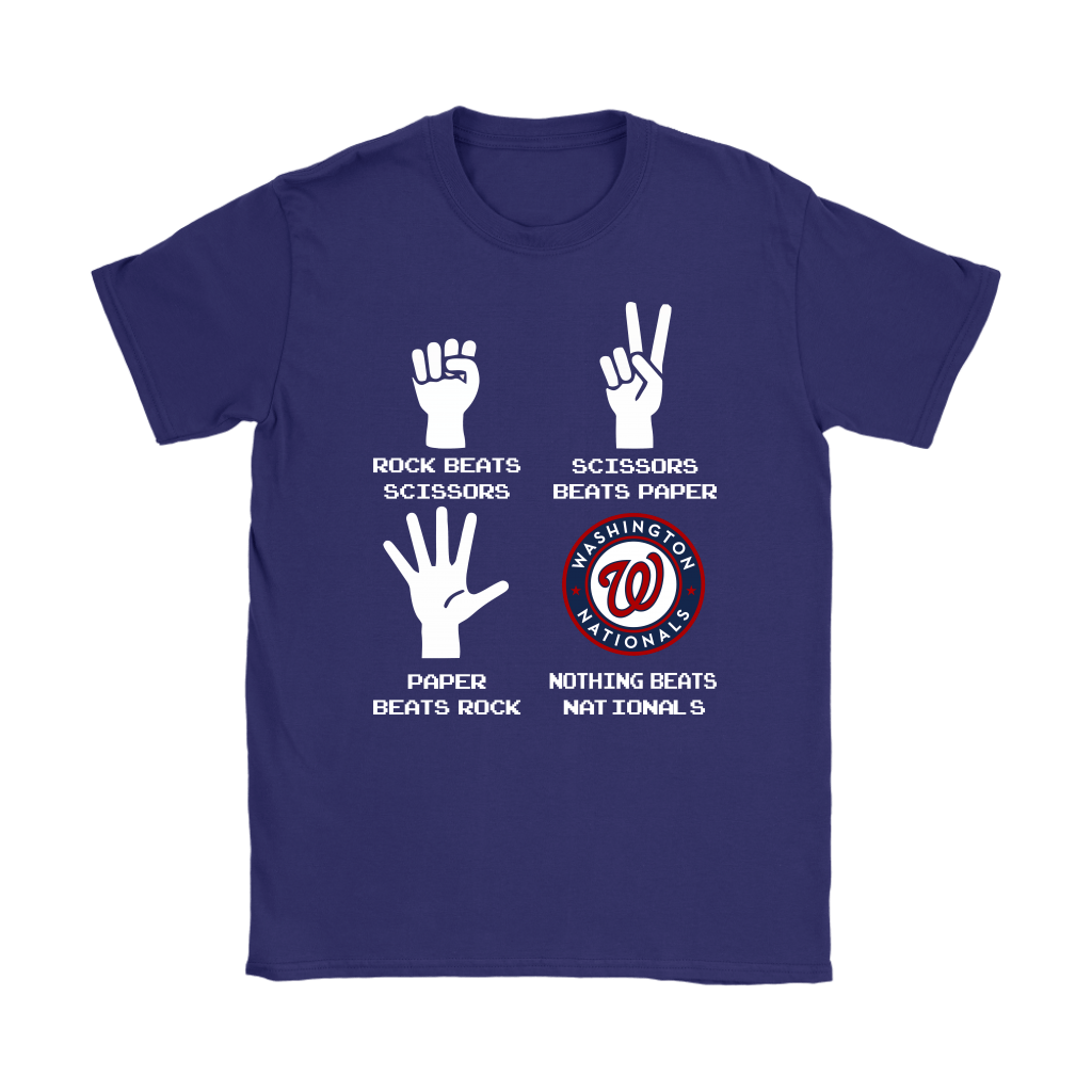 Rock Paper Scissors Nothing Beats The Washington Nationals Shirts 11