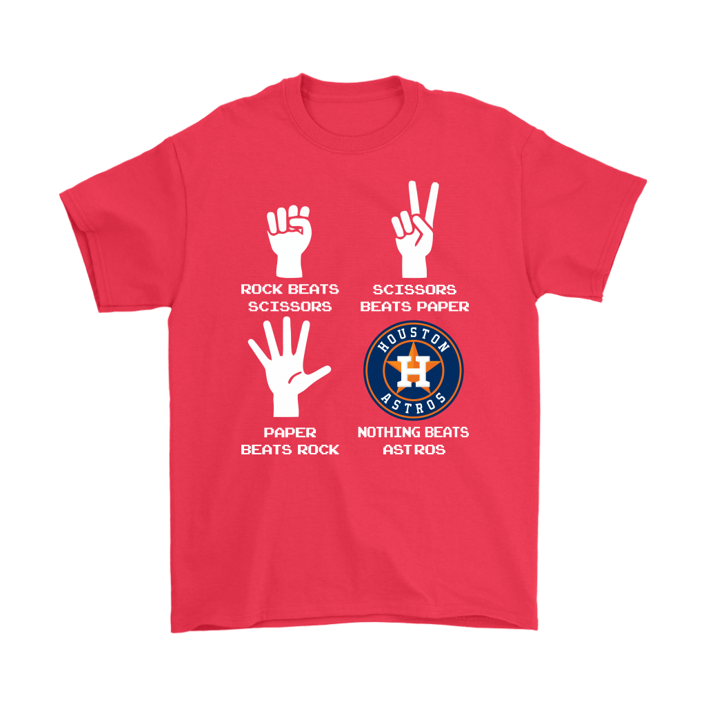 Rock Paper Scissors Nothing Beats The Houston Astros Shirts 5