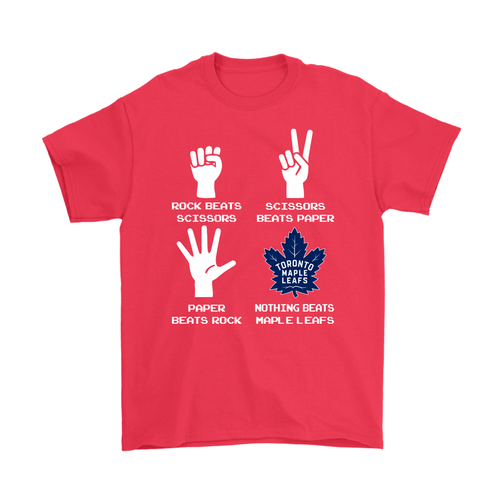 Rock Paper Scissors Nothing Beats The Toronto Maple Leafs Shirts 5