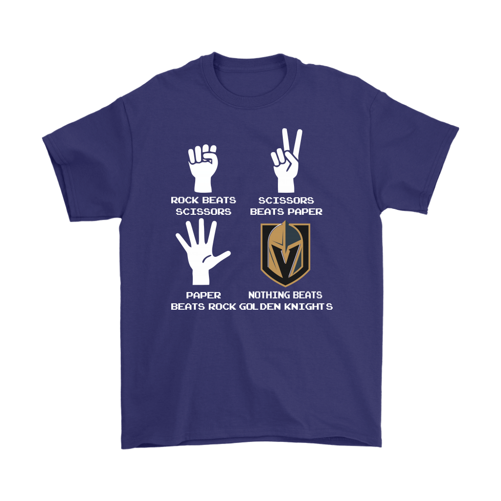Rock Paper Scissors Nothing Beats The Vegas Golden Knights Shirts 4