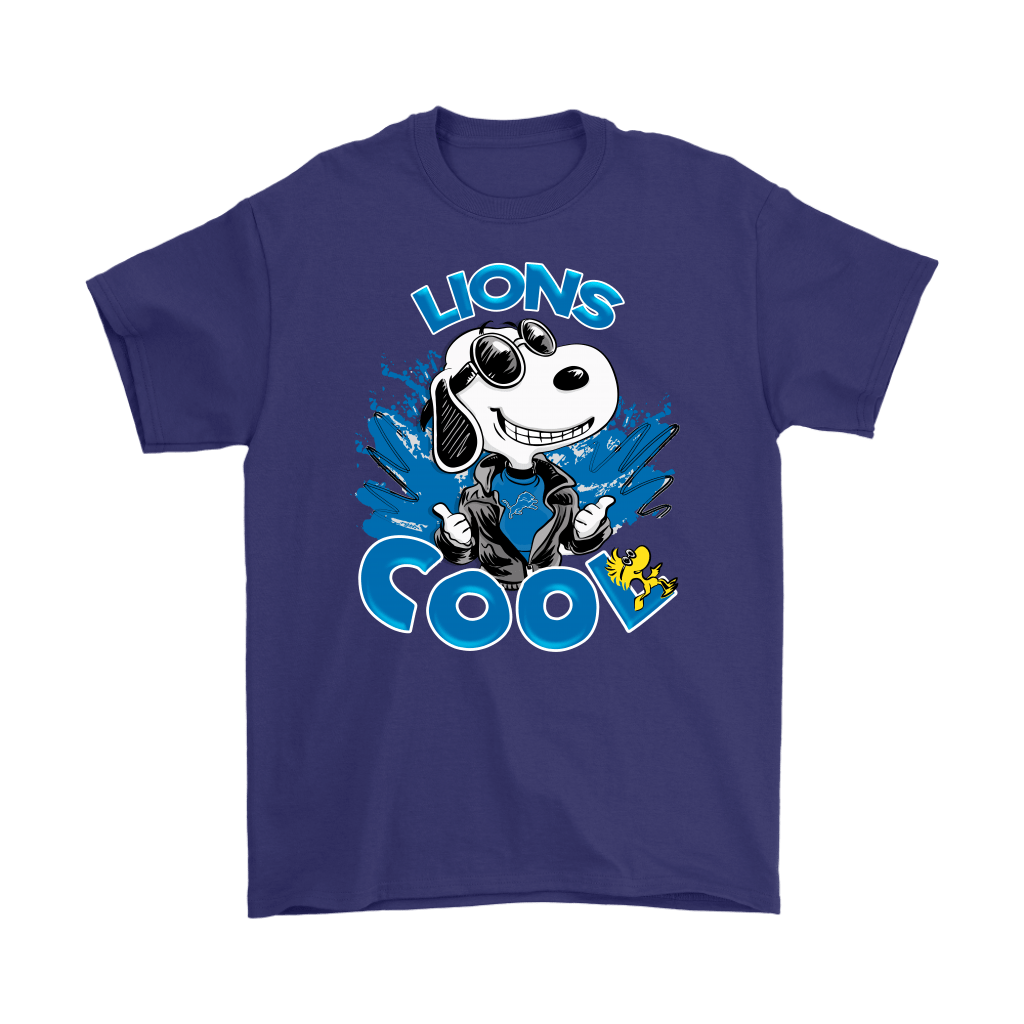 Detroit Lions Snoopy Joe Cool We're Awesome Shirts 4