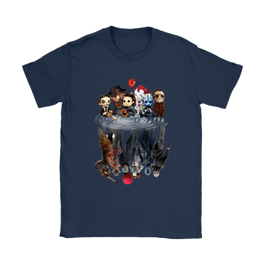 Horror Movies Killers Chibi Reflection Shirts 8