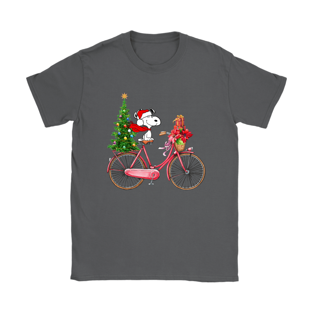 Enjoy The Bicycle Ride It's Christmas Time Snoopy Shirts 9