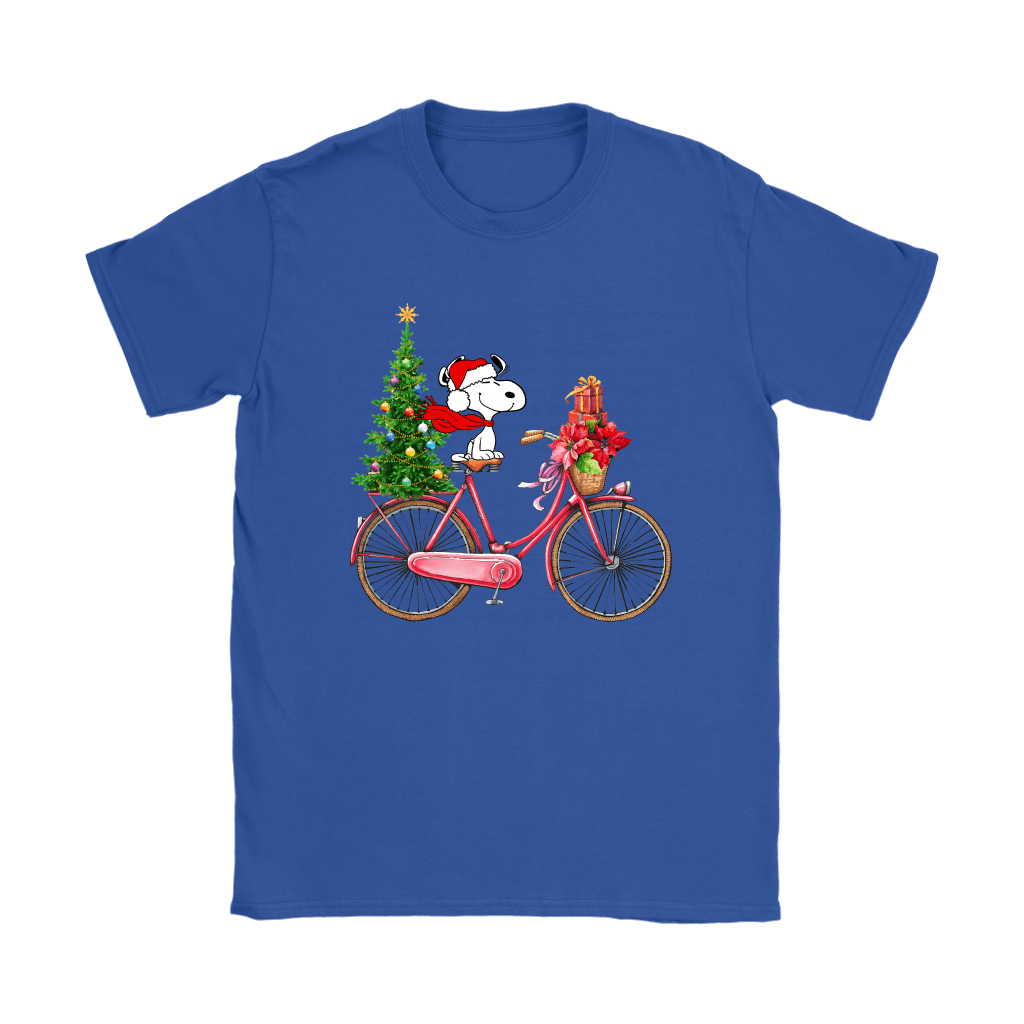 Enjoy The Bicycle Ride It's Christmas Time Snoopy Shirts 12