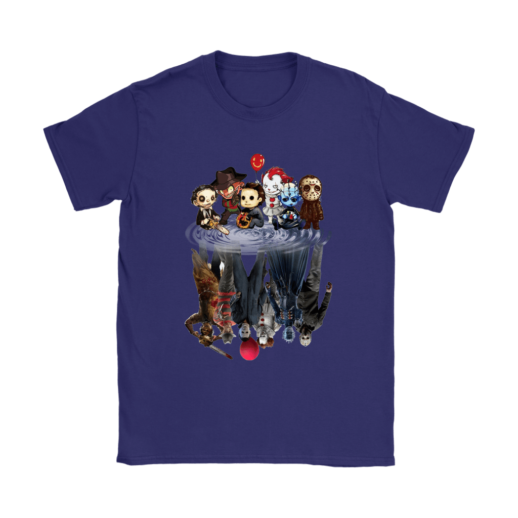 Horror Movies Killers Chibi Reflection Shirts 9