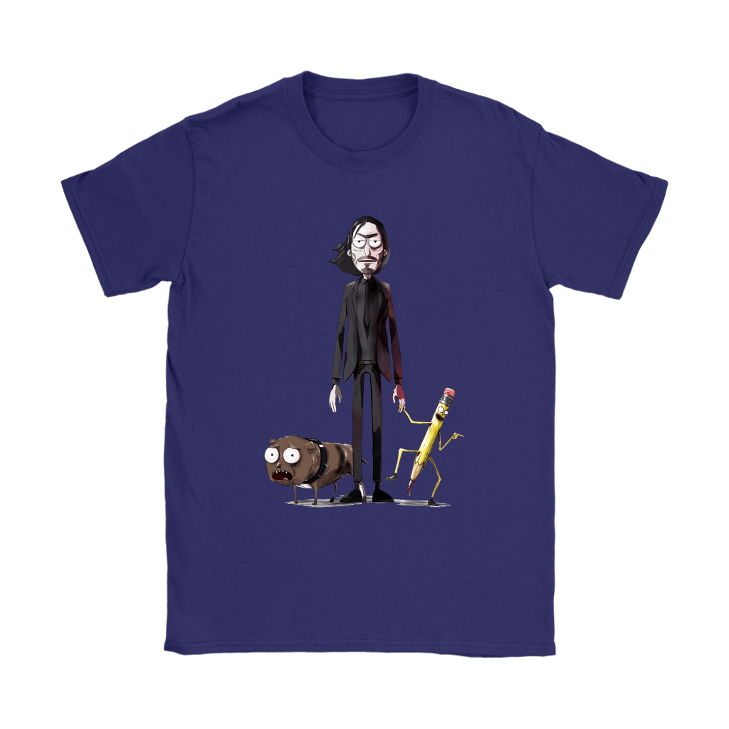 John Wick Dog And Pencil In Rick And Morty Style Shirts 11