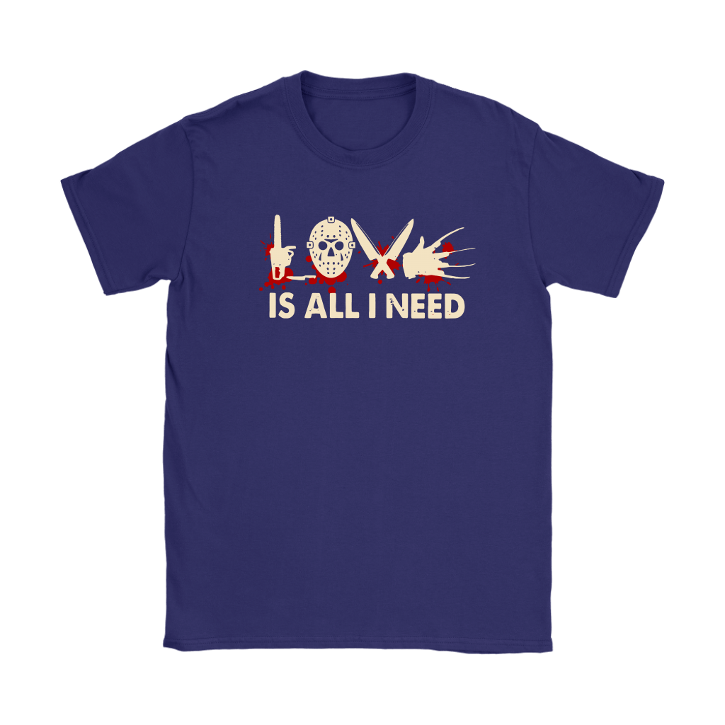Love Is All I Need Horror Killers Style Shirts 9