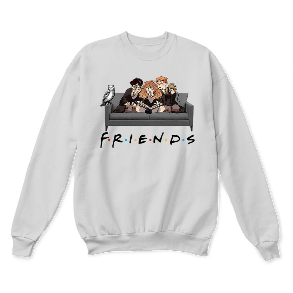 The Golden Trio FRIENDS Harry Potter Hermione & Ron Sweater 1