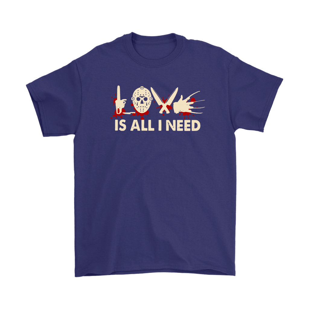 Love Is All I Need Horror Killers Style Shirts 4