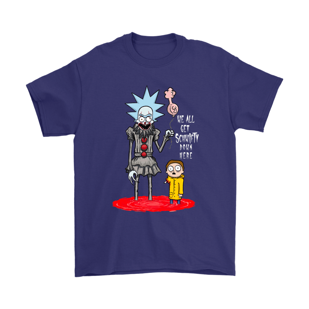 Rick And Morty Pennywise Horror Mashup Shirts 4
