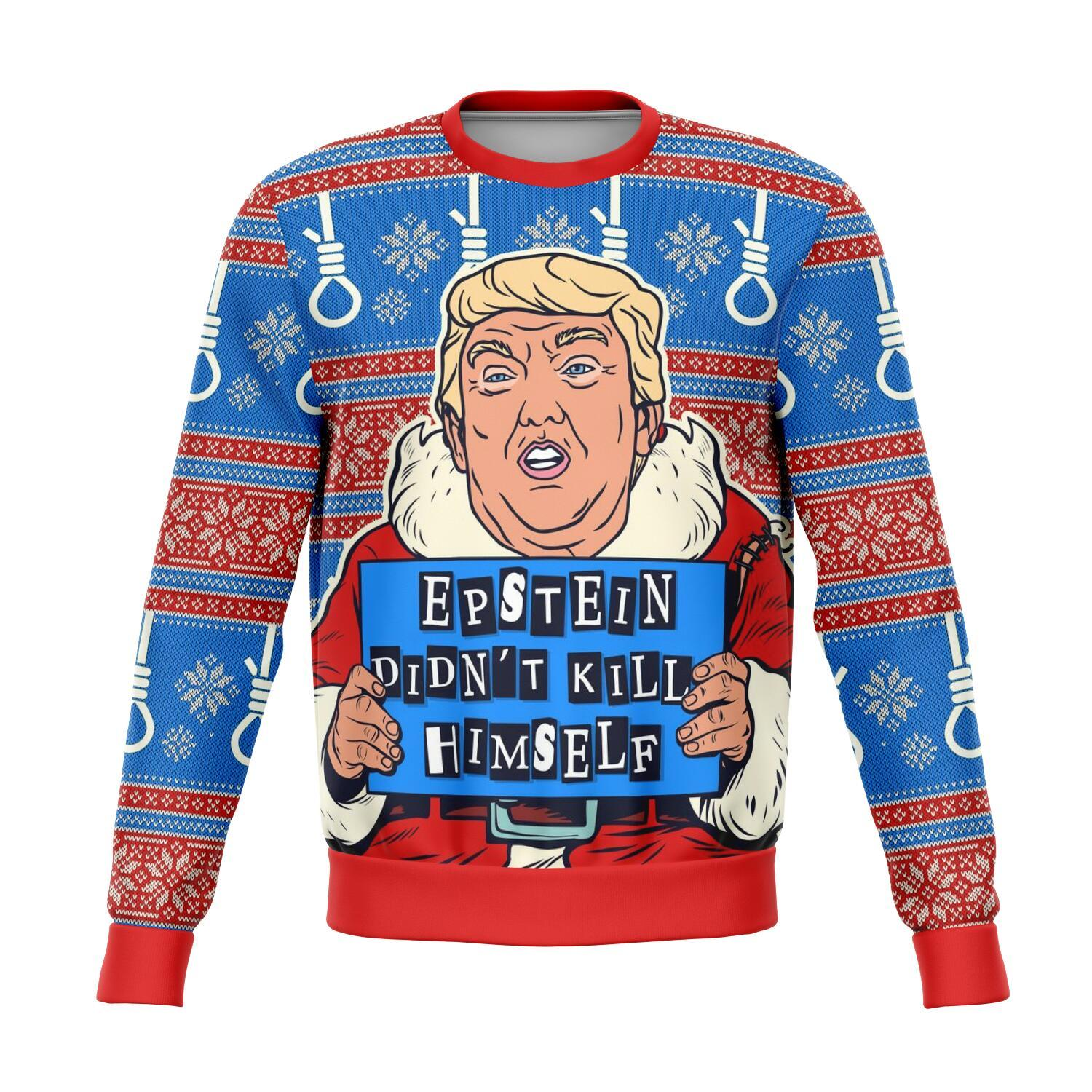 Epstein Didn't Kill Himself Donald Trump All-Over Printed Sweater 1