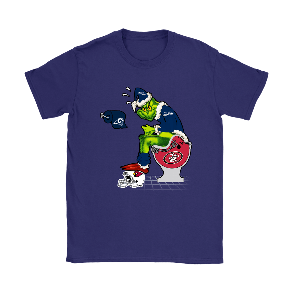 The Grinch Seattle Seahawks Shit On Other Teams Christmas Shirts 11