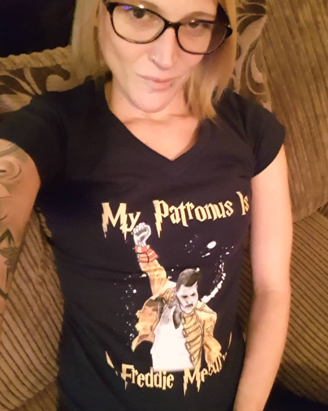 My Patronus Is Freddie Mercury Queen We Are The Champion Shirts photo review