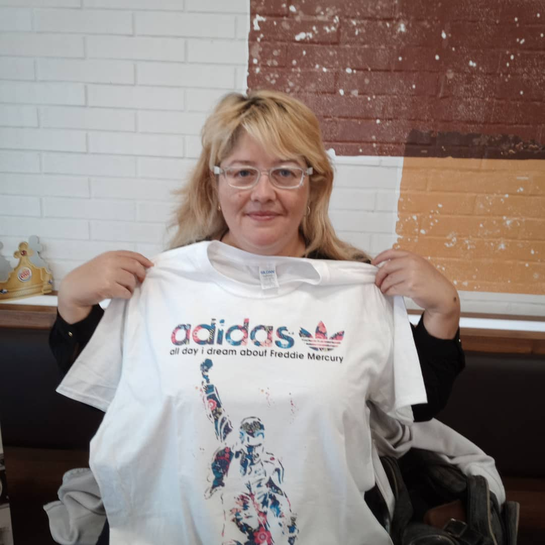 Adidas All Day I Dream About Freddie Mercury Floral Shirts photo review