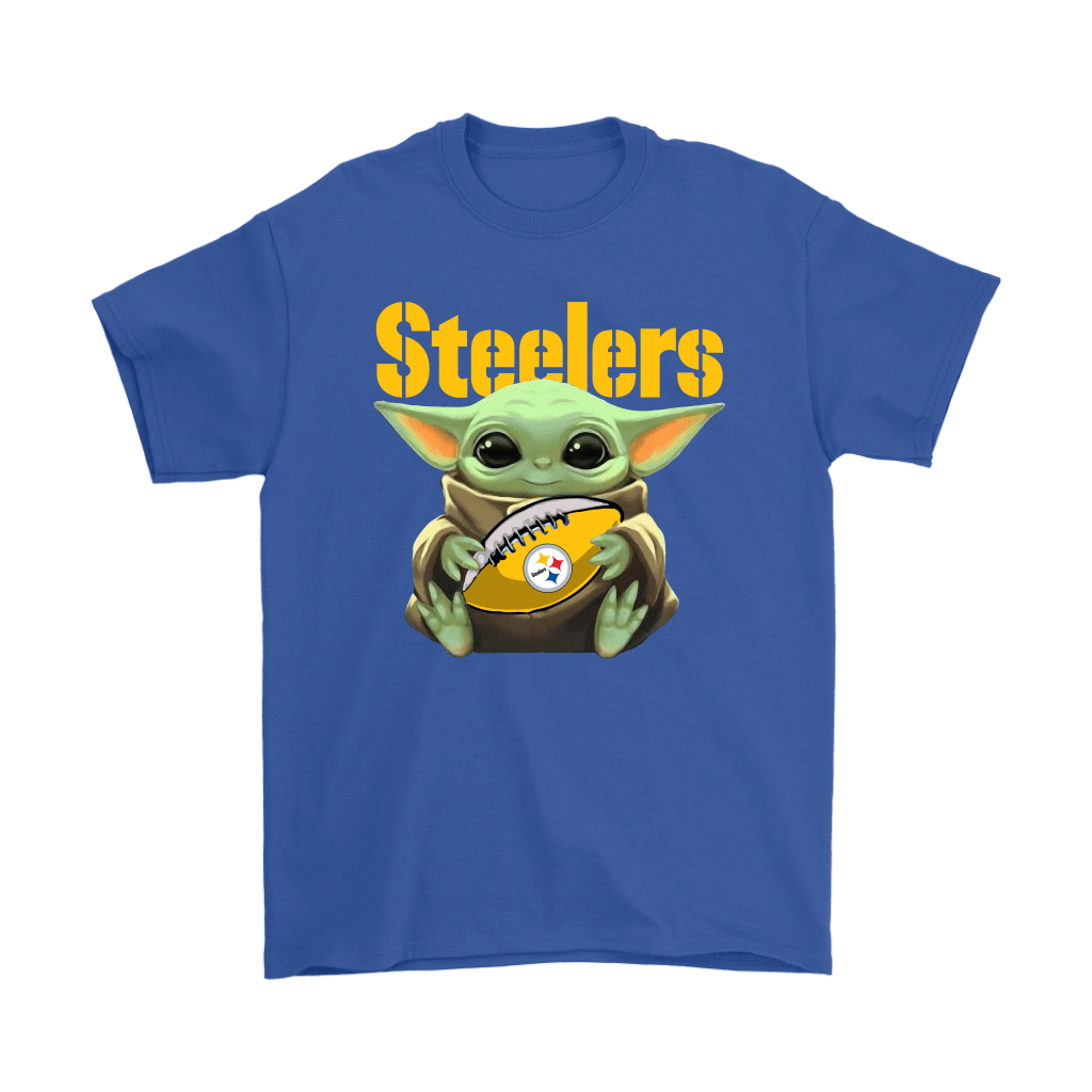 Baby Yoda Loves The Pittsburgh Steelers Star Wars NFL Shirts 5