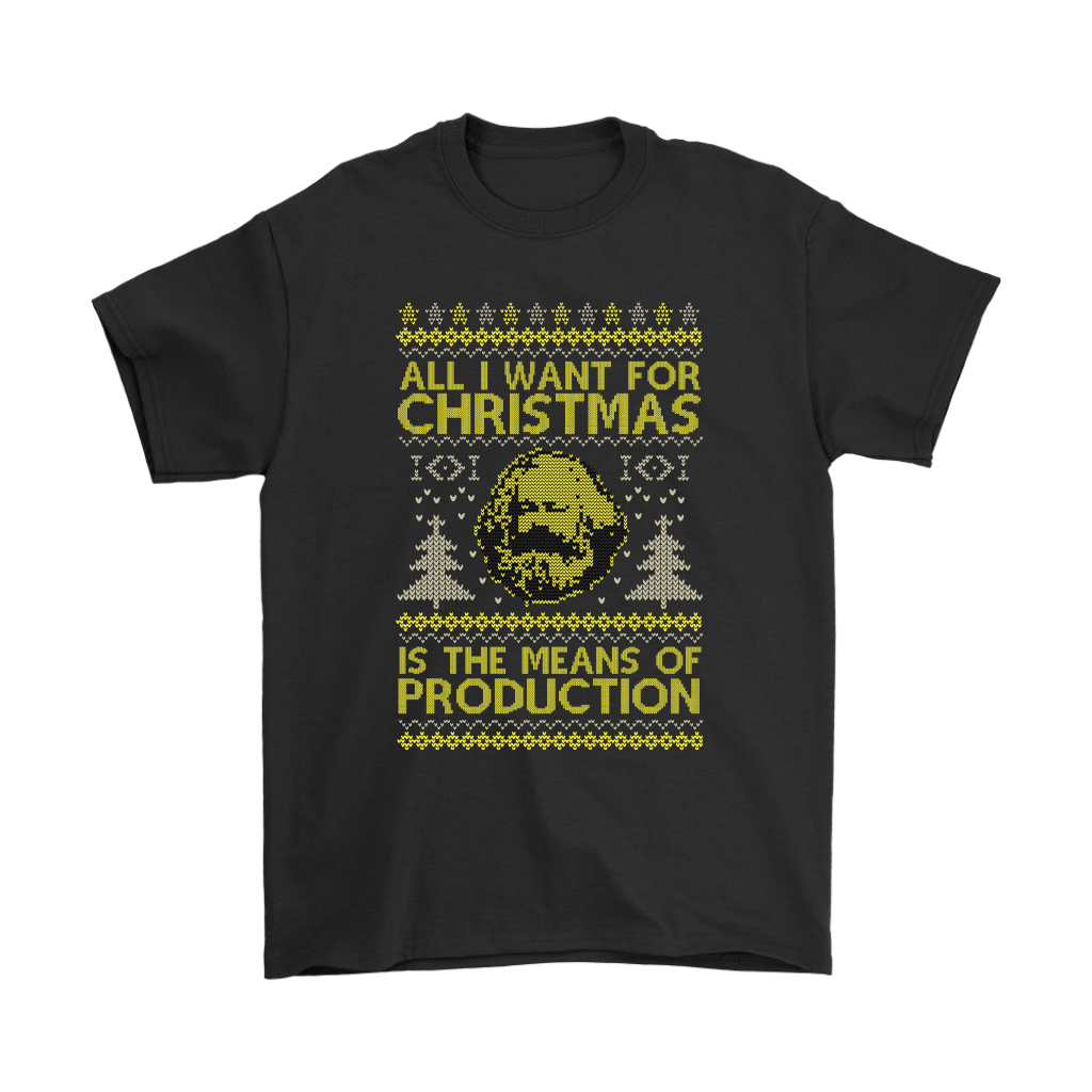 All I Want For Christmas Is The Means Of Production Marxism Shirts 1