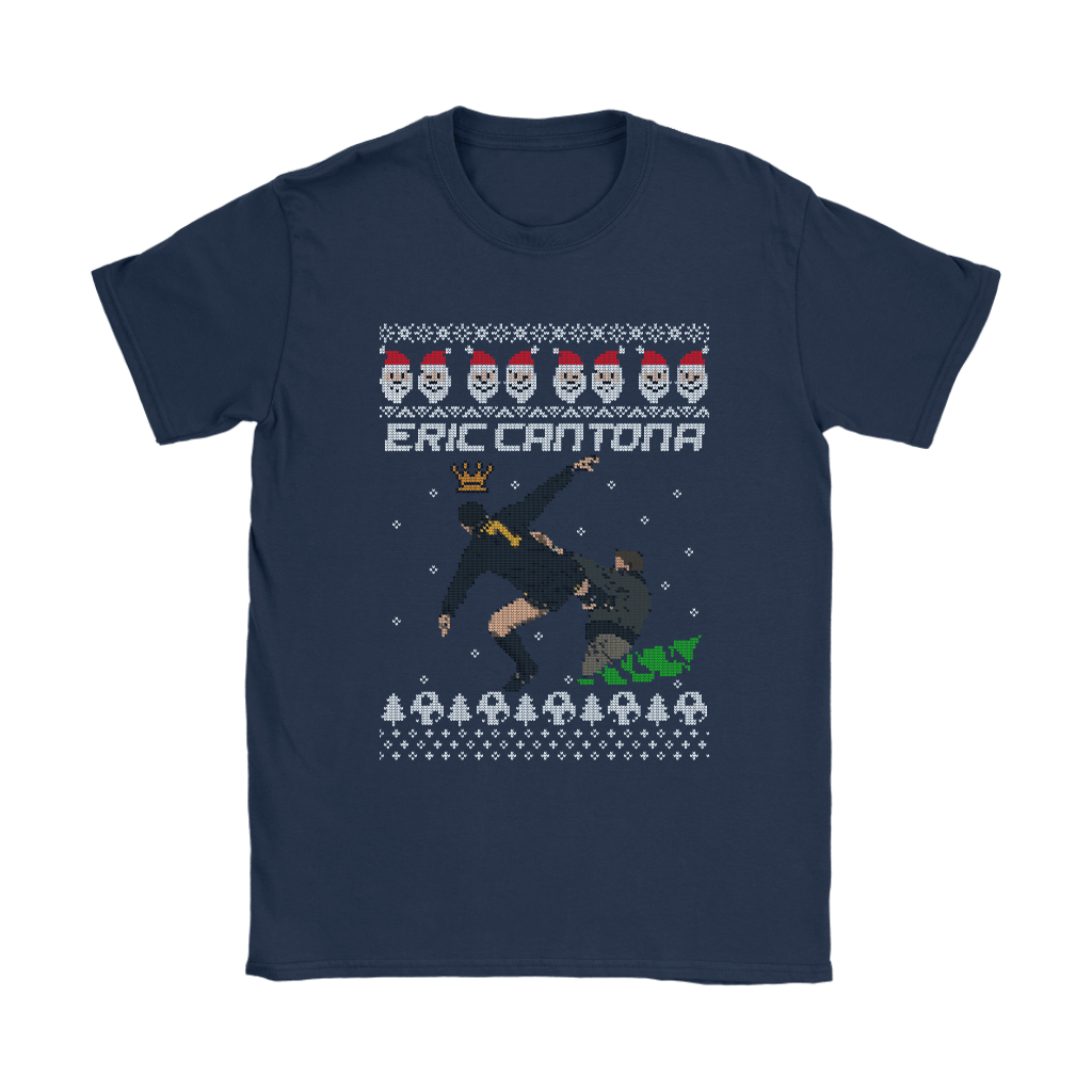 Eric Cantona Kung Fu Kick Ugly Sweater Style Christmas Shirts 23