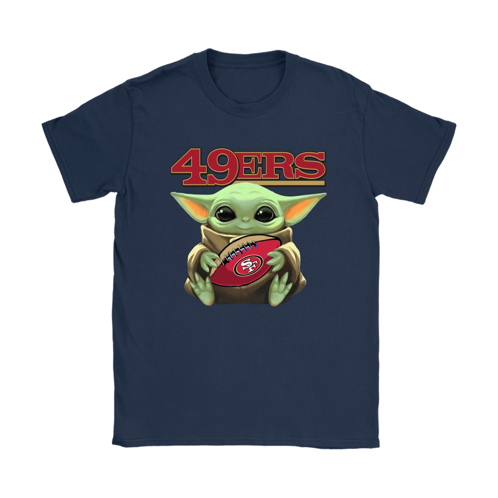 Baby Yoda Loves The San Francisco 49ers Star Wars NFL Shirts 10