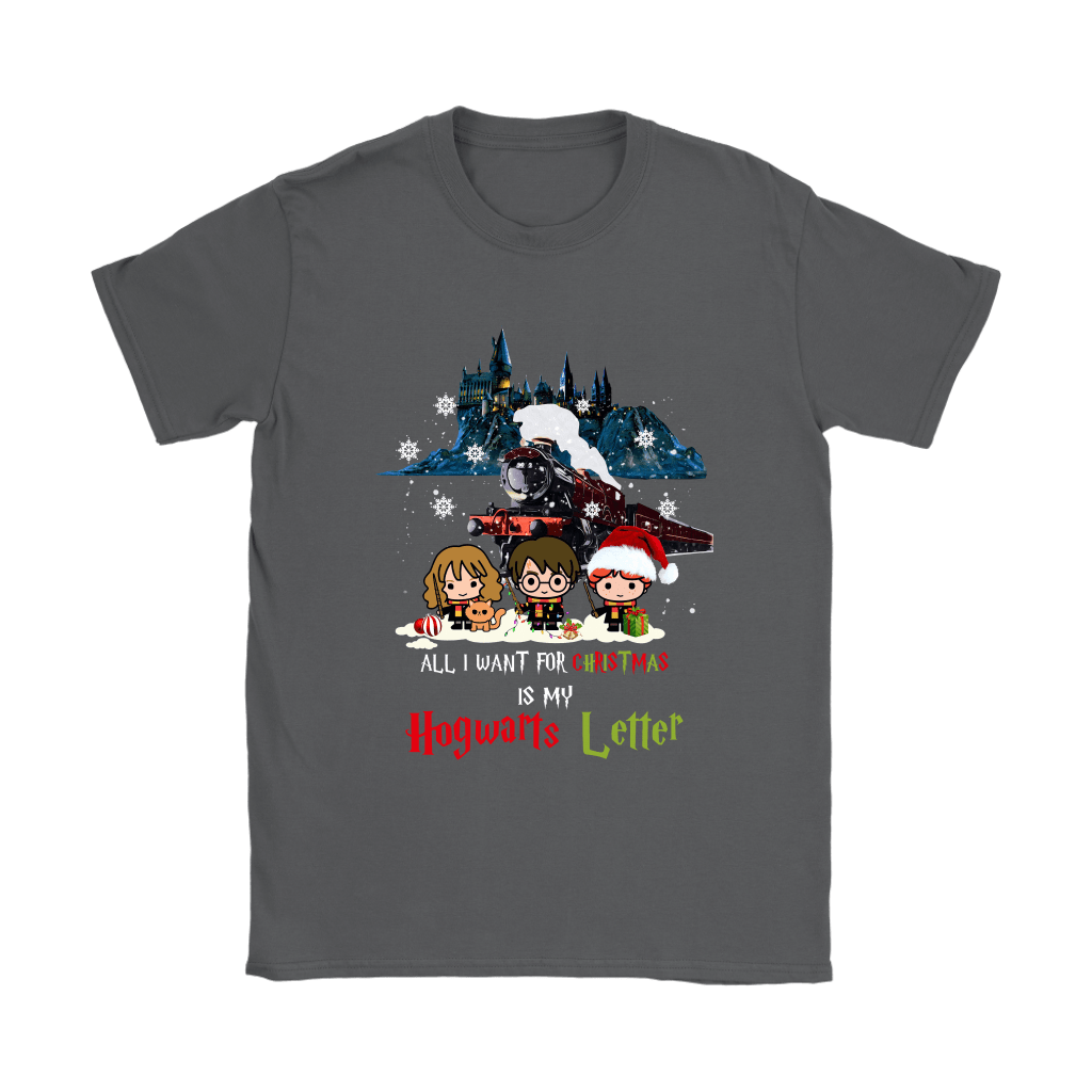 The Golden Trio All I Want For Christmas Is My Hogwarts Letter Shirts 8
