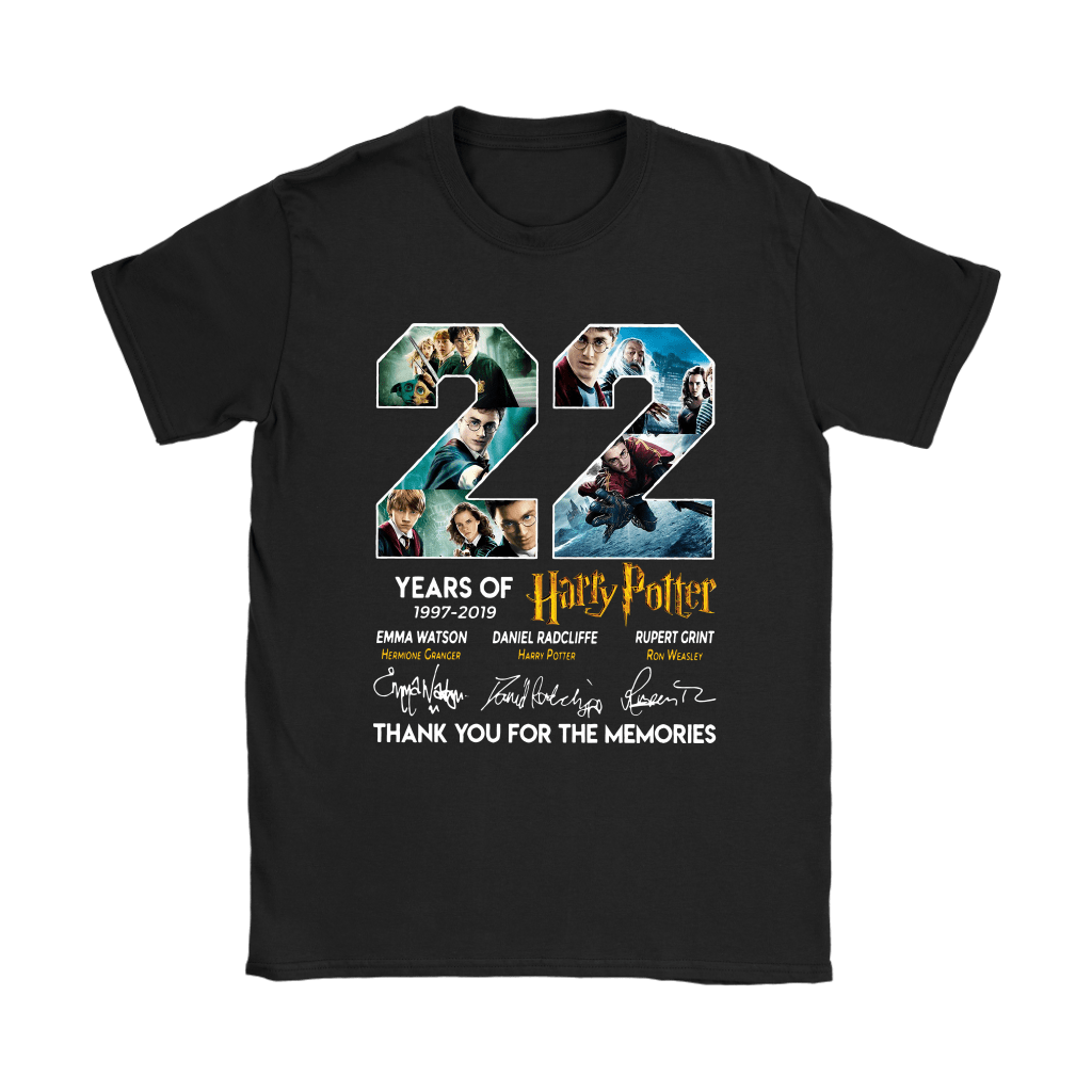22 Years Of Harry Potter 1997 2019 Shirts 8