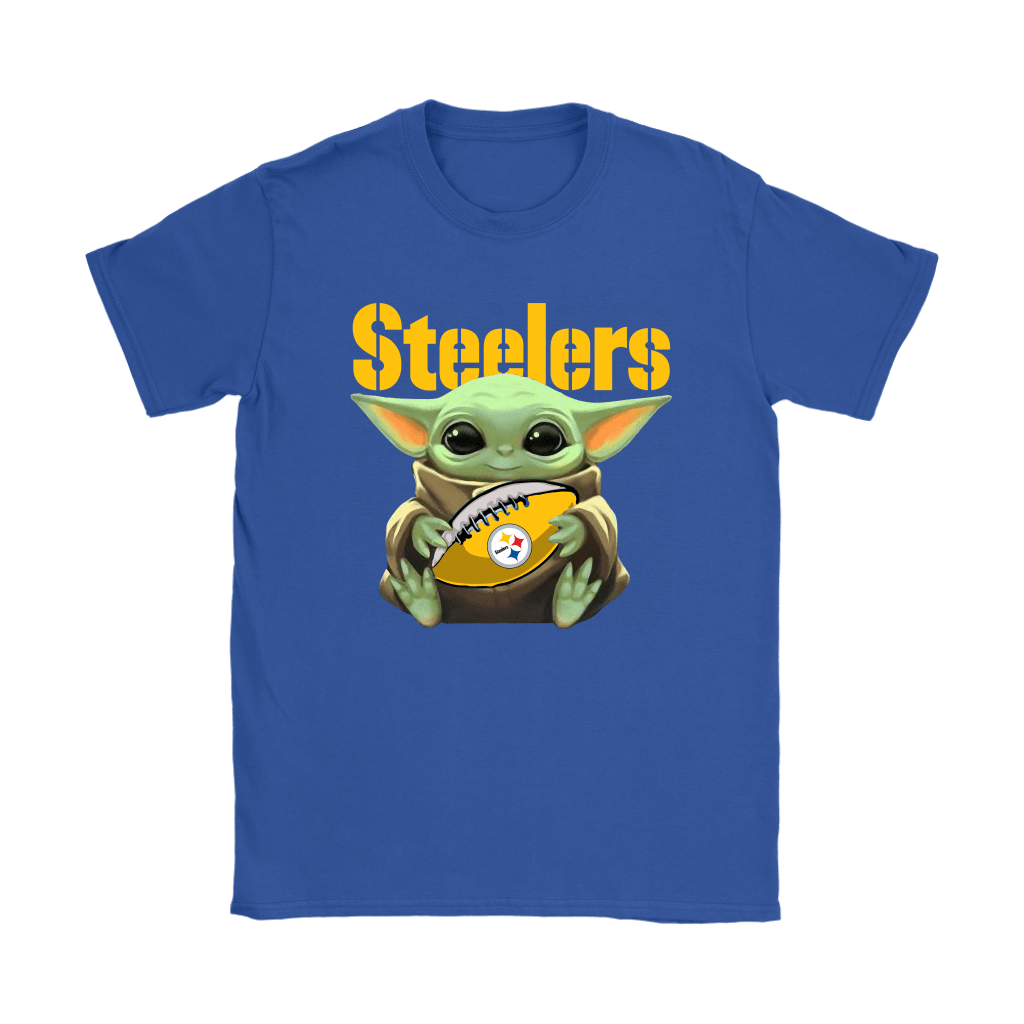 Baby Yoda Loves The Pittsburgh Steelers Star Wars NFL Shirts 12