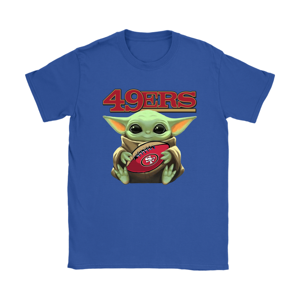 Baby Yoda Loves The San Francisco 49ers Star Wars NFL Shirts 12