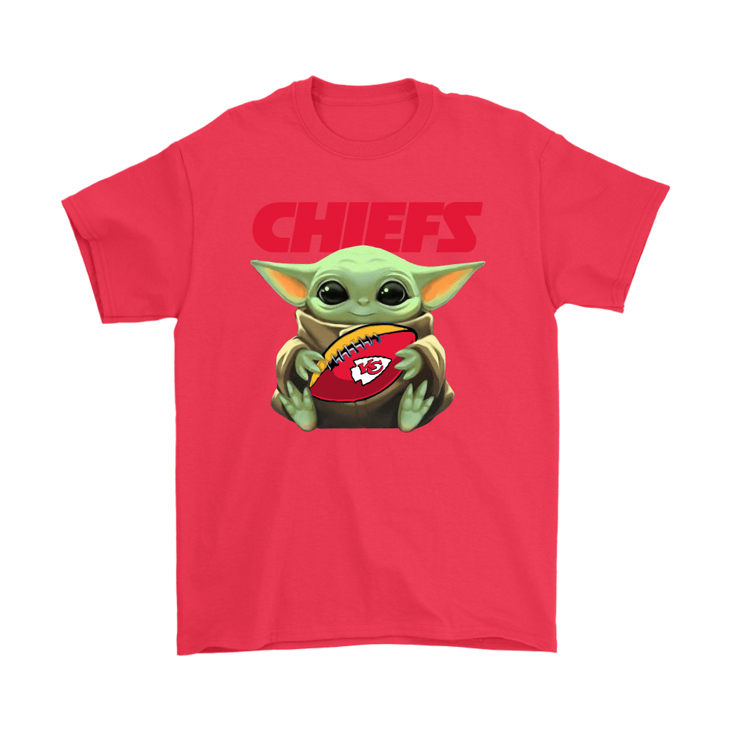 Baby Yoda Loves The Kansas City Chiefs Star Wars NFL Shirts 4