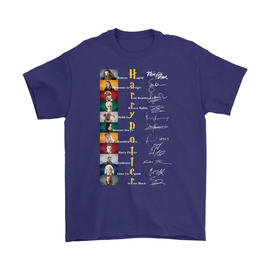 Harry Potter All Characters Name Signature Shirts 4