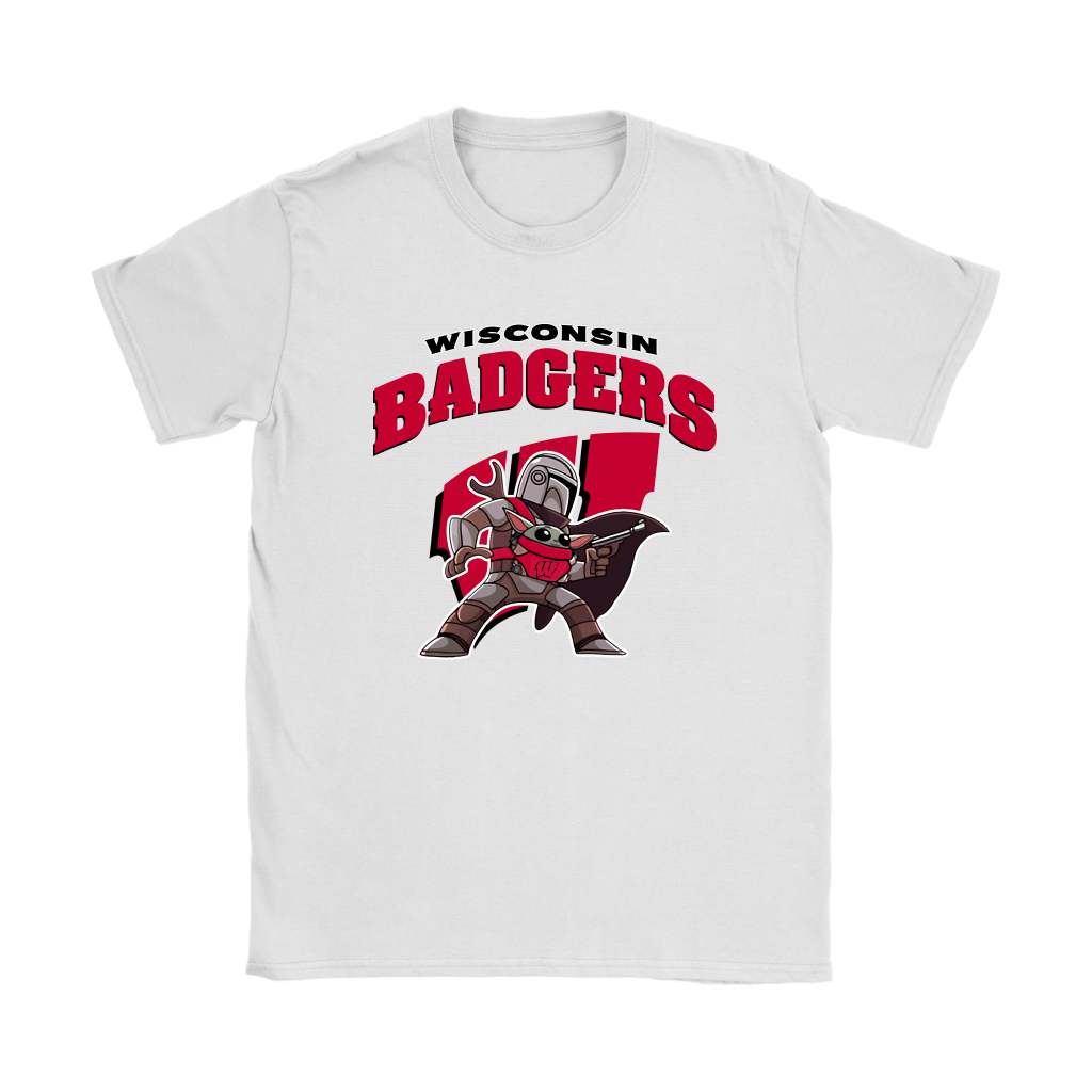 The Mandalorian & Baby Yoda Wisconsin Badgers NCAA Shirts 14