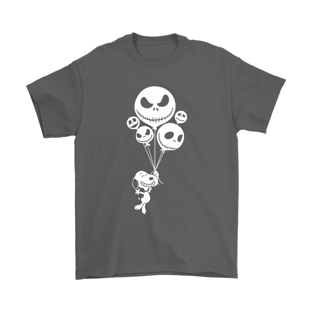 Snoopy Flying Up With Jack Skellington Balloons Shirts 2