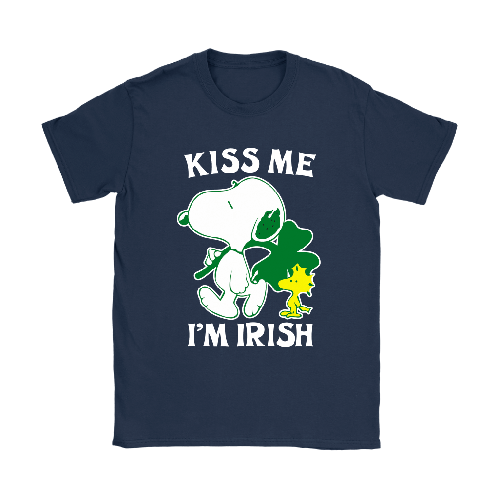 Snoopy And Woodstock Kiss Me I'm Irish St. Patrick's Day Shirts 10