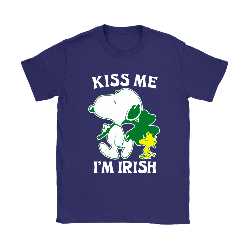 Snoopy And Woodstock Kiss Me I'm Irish St. Patrick's Day Shirts 11