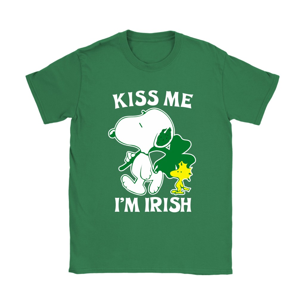 Snoopy And Woodstock Kiss Me I'm Irish St. Patrick's Day Shirts 14