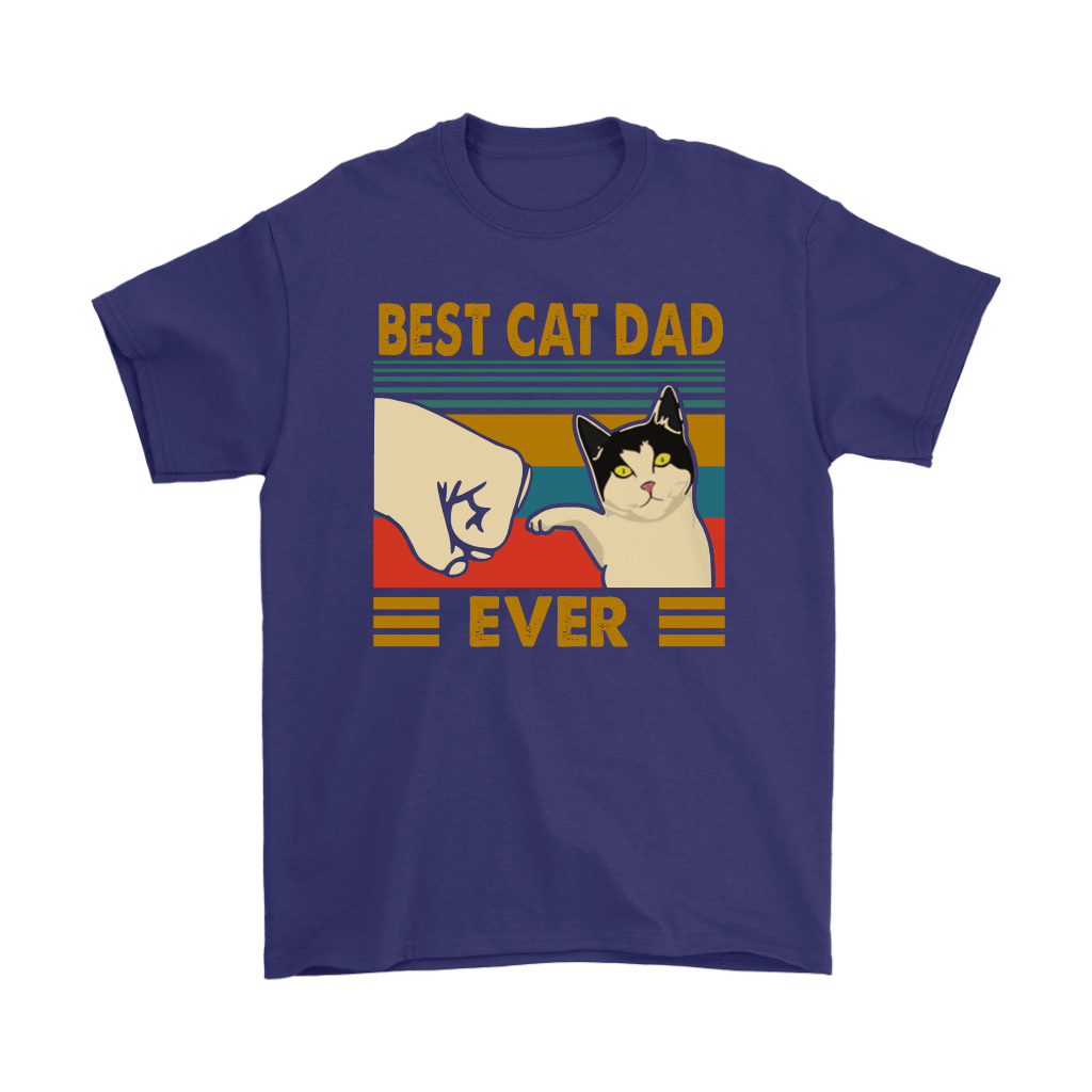 Best Cat Dad Ever Fist Bump With Cat Vintage Shirts 4