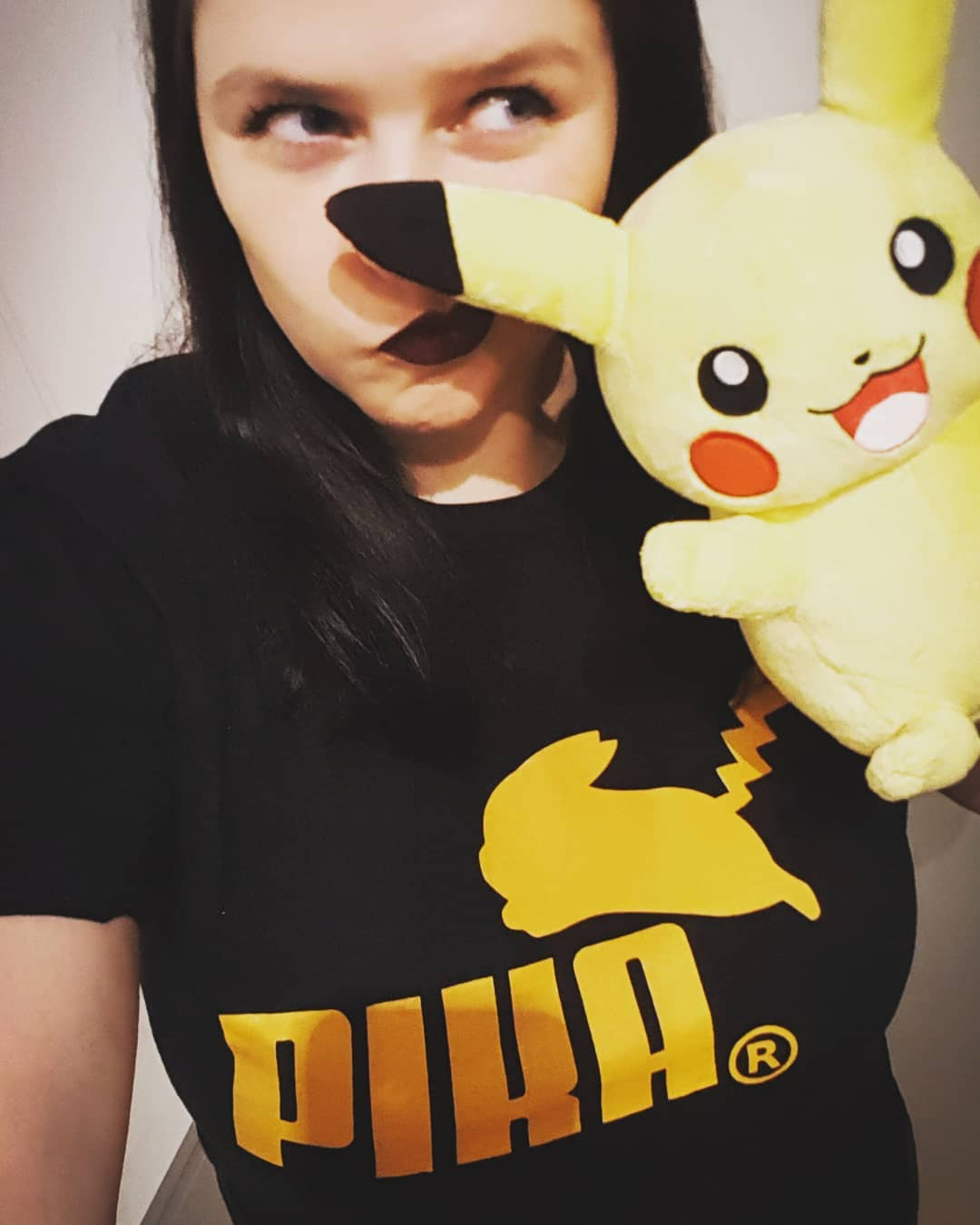 Puma Logo Pika Pokemon Pikachu Mashup Shirts photo review
