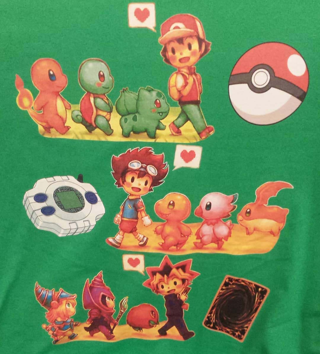 Pokemon Digimon Yugioh Starters Childhood Memory Shirts photo review