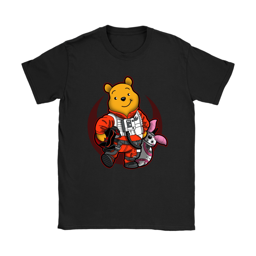 Winnie The Pooh And Piglet As Luke And BB-8 Star Wars Shirts 21